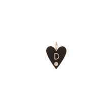 Family Enamel Heart with 1 Letter and Diamond