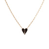 Medium Family Enamel Heart Pendant with 1 Letter and Diamond