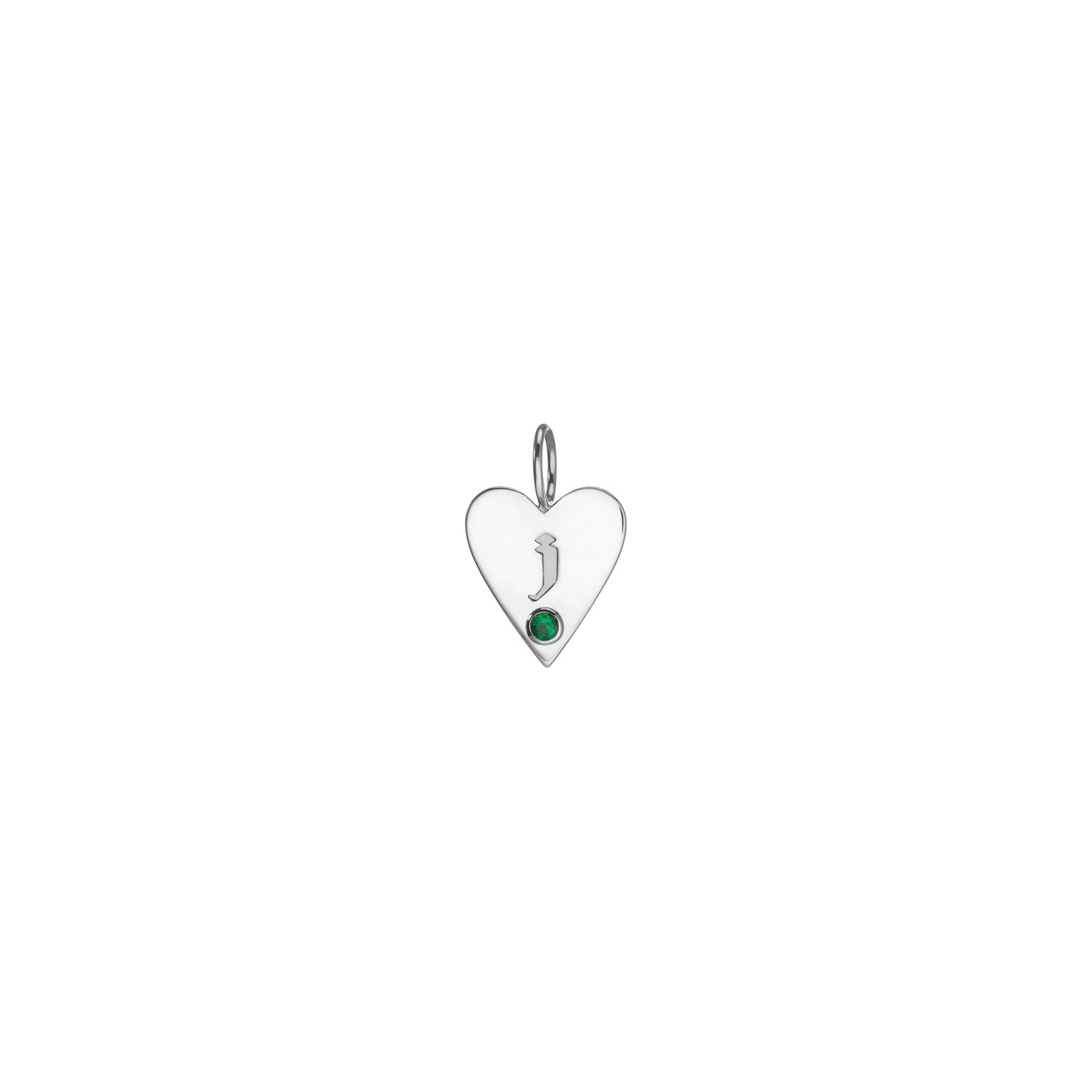 Medium Family Gothic Birthstone Heart