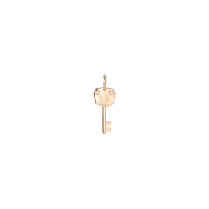 Small Family Gothic Key with 2 White Diamonds