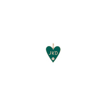 Medium Family Enamel Heart with 3 Letters and Diamond