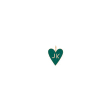 Medium Family Enamel Heart with 2 Letters