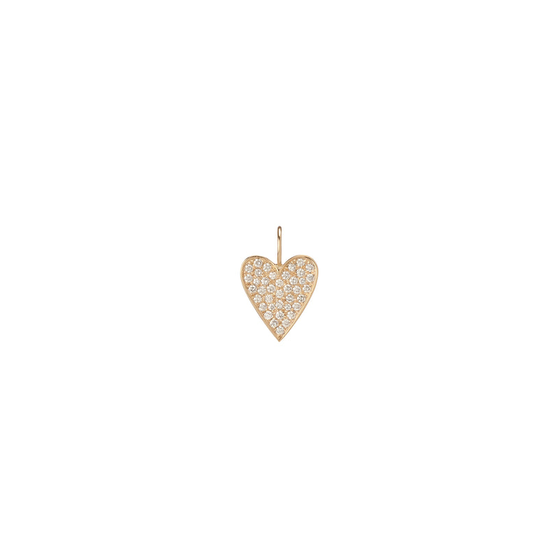 Medium Heart with Pave White Diamonds