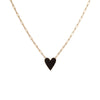 Medium Family Enamel Heart Pendant with 4 Letters