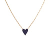Medium Family Enamel Heart Pendant with 3 Horizontal Letters