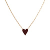 Medium Family Enamel Heart Pendant with 3 Letters