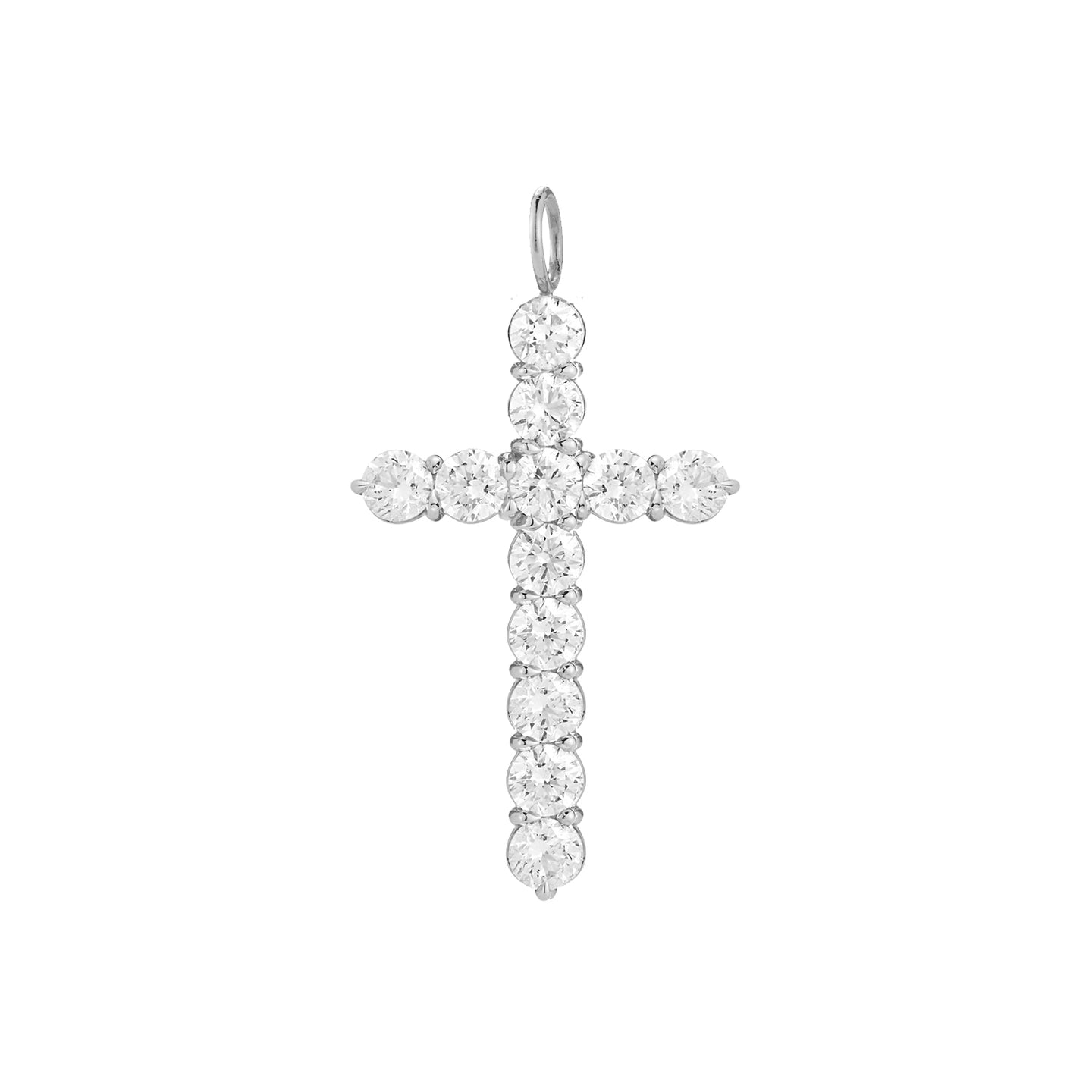 Oversized Floating Diamond Cross