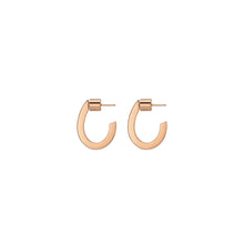 Oval Shaped Huggie Hoops