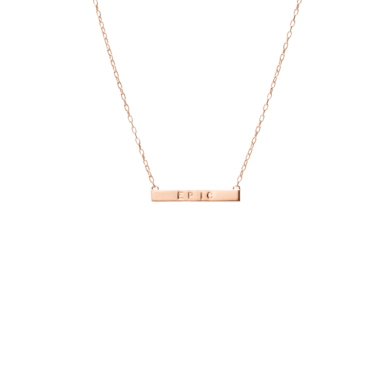 Mini Tall Dog Tag Bar Pendant