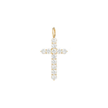 Small Floating Diamond Cross