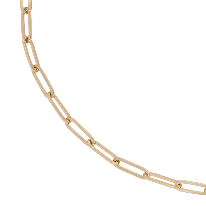 14k Large Long Link Chain Anklet