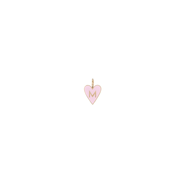 Small Gold Border Enamel Heart with Letter