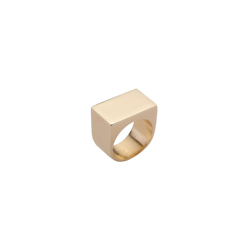 Stripe Signet Pinky Ring