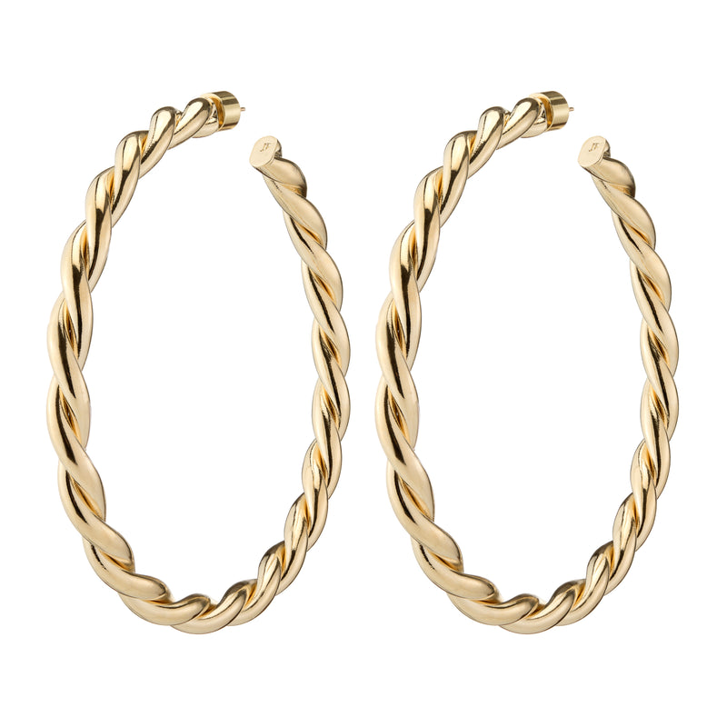 "3"" Double Twisted Lilly Hoops"