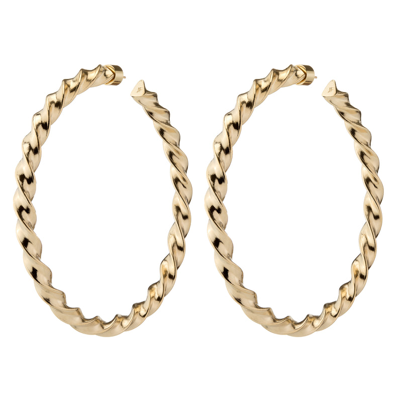 "3"" Twisted Karla Hoops"