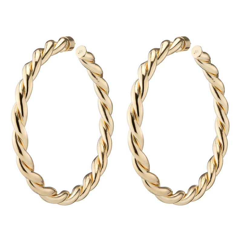 Double Twisted Lilly Hoops