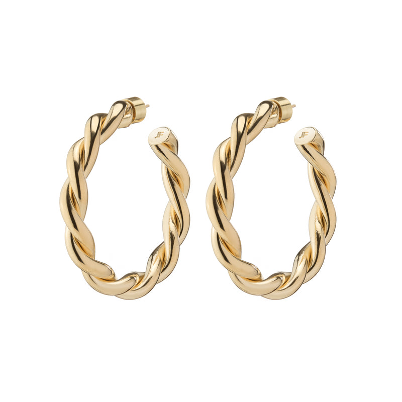 Baby Double Twisted Lilly Hoops