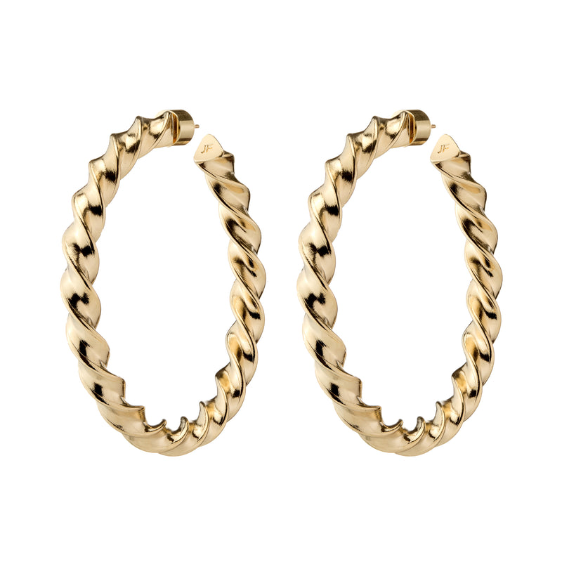 "2"" Twisted Karla Hoops"