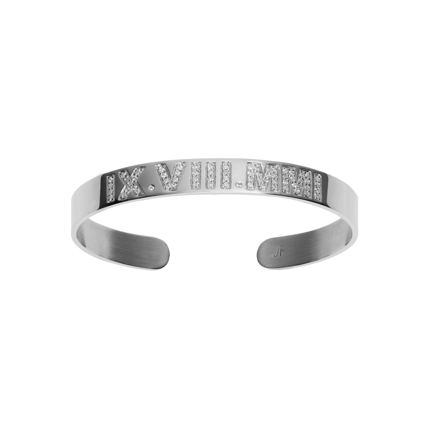 Skinny Burnish Roman Numeral Cuff