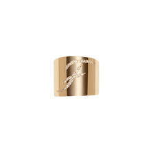 Cigar Band with Script Burnish White Diamond Letter