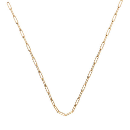 18k Long Link Chain Choker