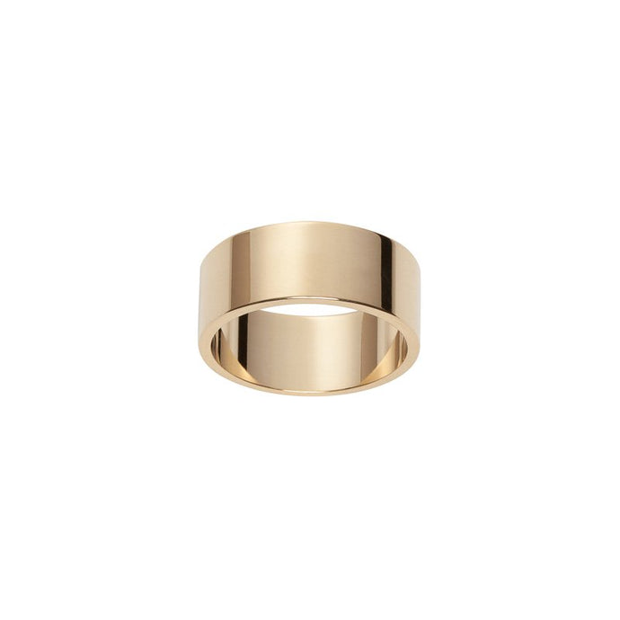 Large Flat Wedding Band