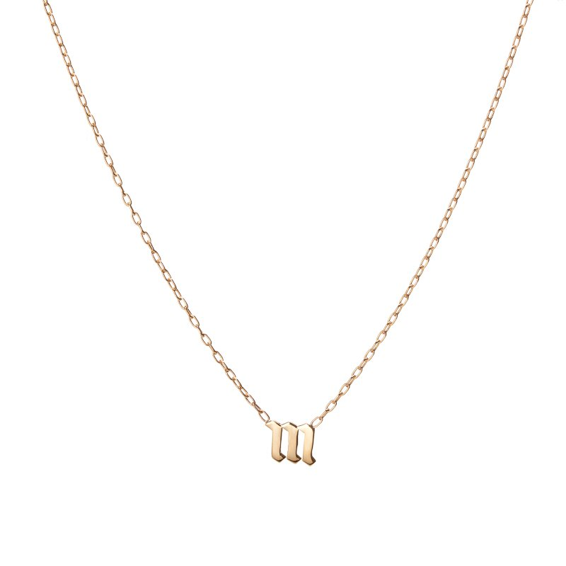 ketting jewelry gold personalized necklace min product letter