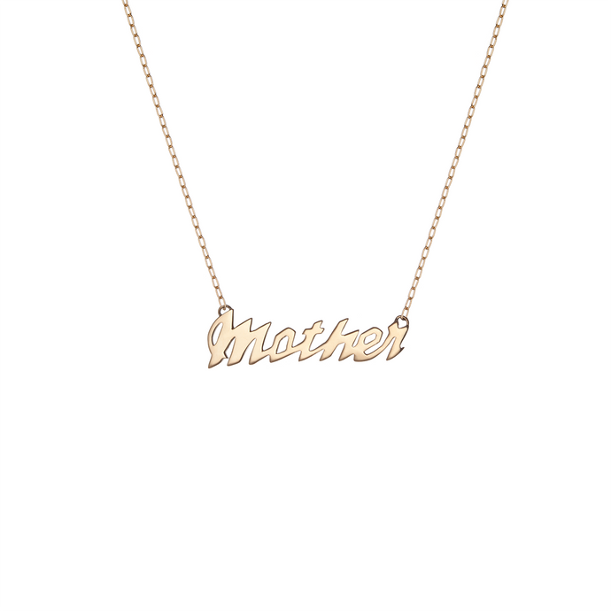 JF Script 'Mother' Pendant