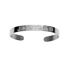 Skinny Equation Cuff with Burnish White Diamonds