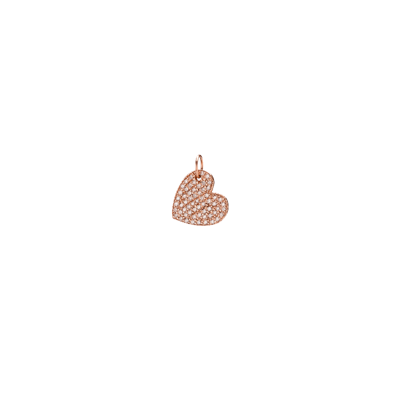 Small Heart with Pave white Diamonds
