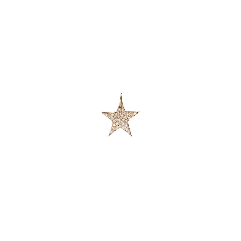 Small Star with Pave White Diamonds