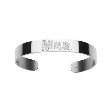 Burnish White Diamond MRS. Cuff