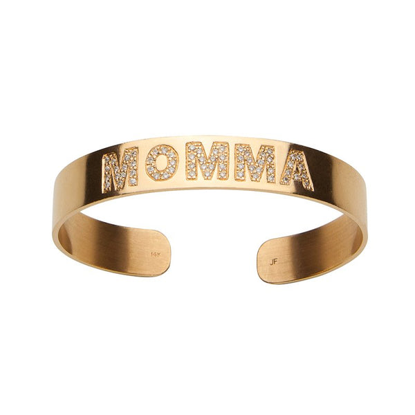 Burnish White Diamond Momma Cuff