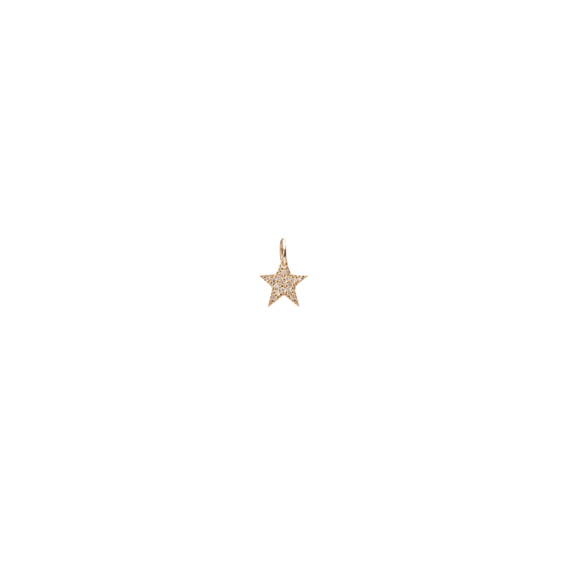 Mini Star with Pave White Diamonds