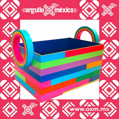 Canasta Rectangular para Regalo Serpentina artesanía mexicana contemporánea