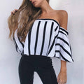 Keely Flared Stripe Top