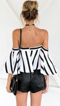 buy Keely Flared Stripe Top