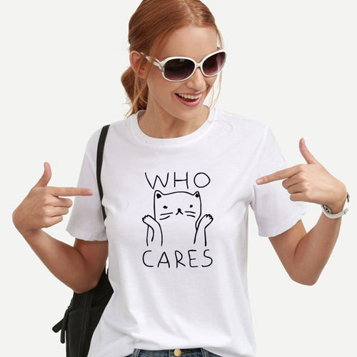 Who Cares Cat Tee