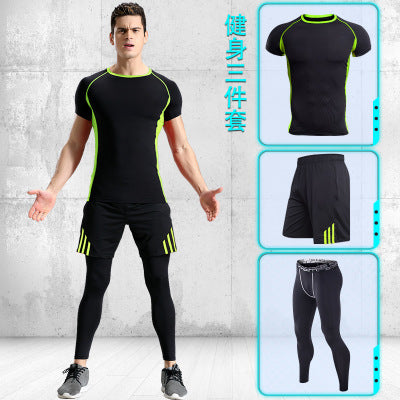 Sportsman Suit Running Sets Training Sets Active wear Compression Suits Track Fields Sportswear outfits Bodybuilding Set 3 Piece