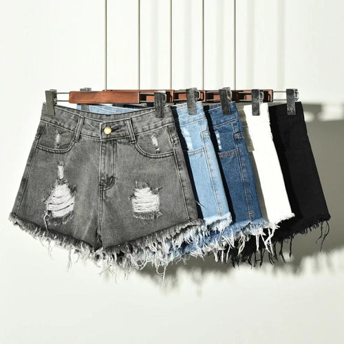 Casual Ripped Denim Shorts