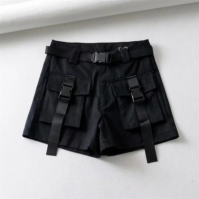 Front Pocket Cargo Shorts With Belt