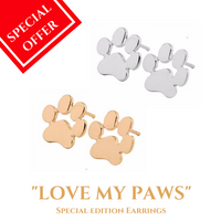 "Dog Mom -""LOVE MY PAWS"" Earrings"