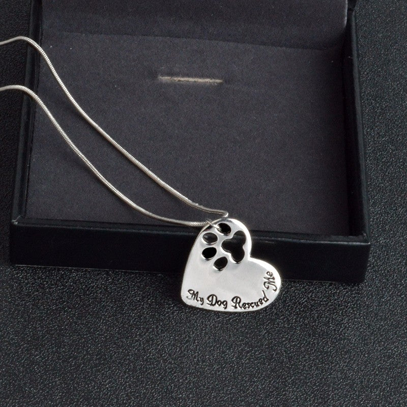 "Z Dog Mom - ""MY DOG RESCUED ME"" Necklace"