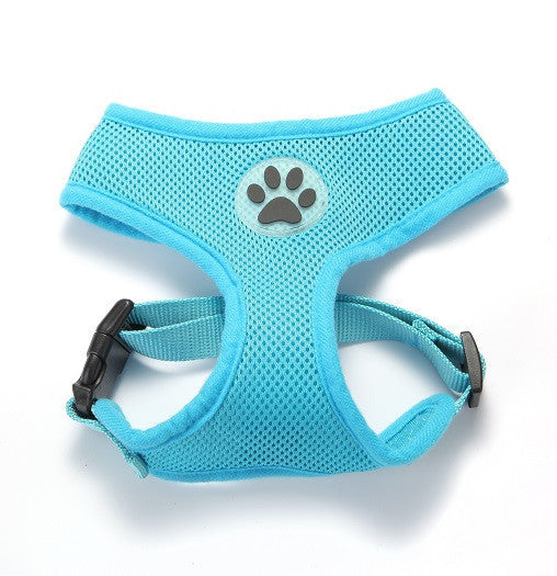 ZValue-Friendly Breathable Mesh & Padded Vest Harness Light Blue / XS