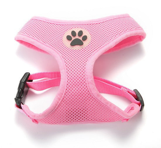 ZValue-Friendly Breathable Mesh & Padded Vest Harness Pink / XS
