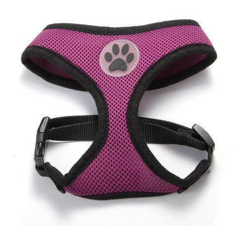 ZValue-Friendly Breathable Mesh & Padded Vest Harness Purple / XS