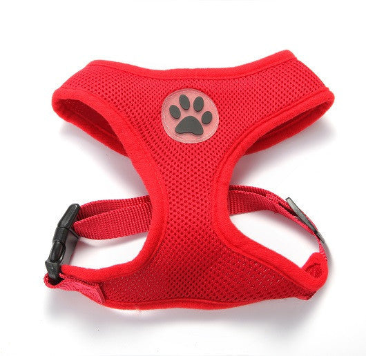 ZValue-Friendly Breathable Mesh & Padded Vest Harness Red / XS