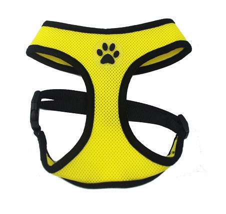 ZValue-Friendly Breathable Mesh & Padded Vest Harness Yellow / XS