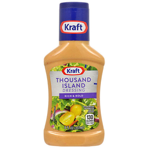 Kraft Thousand Island Salad Dressing, 8-oz. Bottles