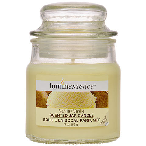 Luminessence Vanilla Mini Glass Apothecary Jar Candles, 3 oz.